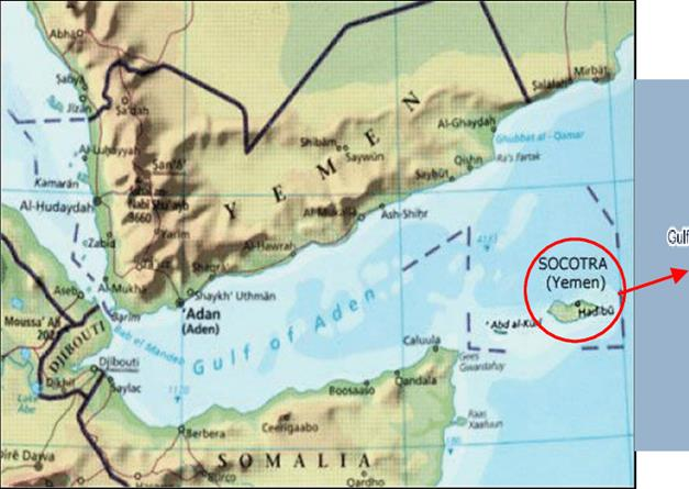 Map of Yemen, and the location of Socotra island. | Download ...